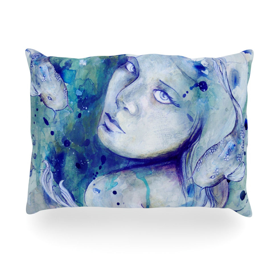 "Kira Crees ""Koi Playing"" Oblong Pillow - KESS InHouse"