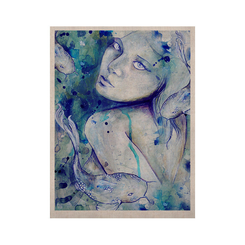 "Kira Crees ""Koi Playing"" KESS Naturals Canvas (Frame not Included) - KESS InHouse  - 1"
