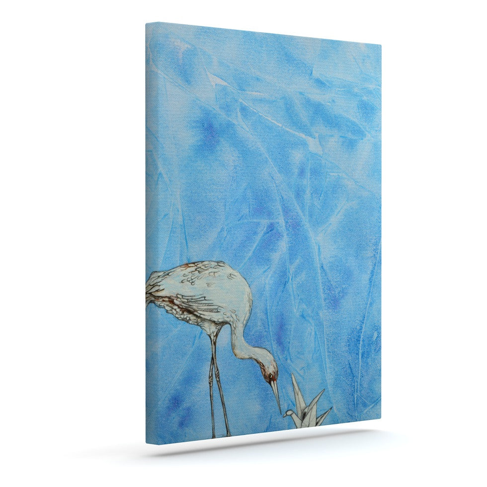 "Kira Crees ""Crane"" Outdoor Canvas Wall Art - KESS InHouse  - 1"