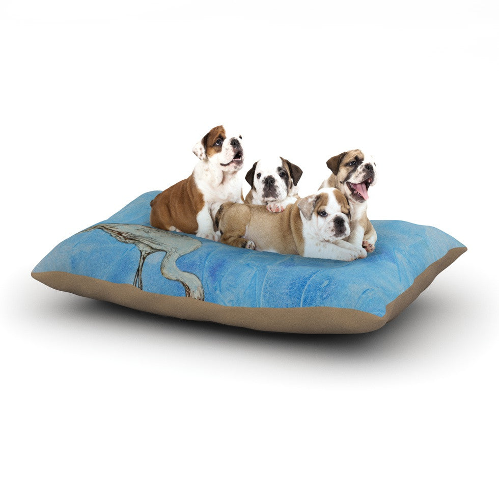 "Kira Crees ""Crane"" Dog Bed - KESS InHouse  - 1"