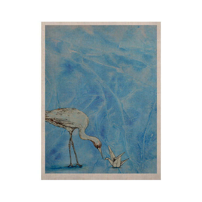 "Kira Crees ""Crane"" KESS Naturals Canvas (Frame not Included) - KESS InHouse  - 1"