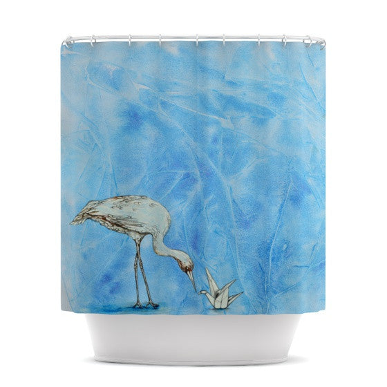 "Kira Crees ""Crane"" Shower Curtain - KESS InHouse"