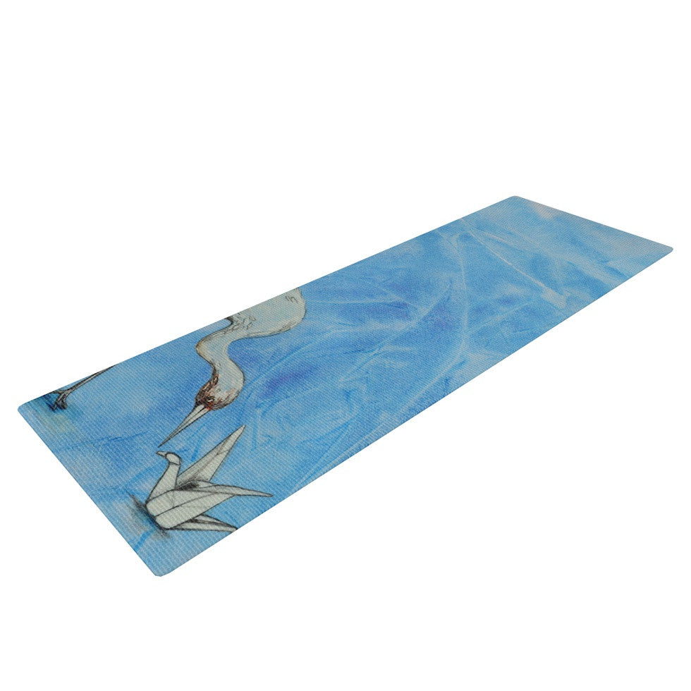 "Kira Crees ""Crane"" Yoga Mat - KESS InHouse  - 1"