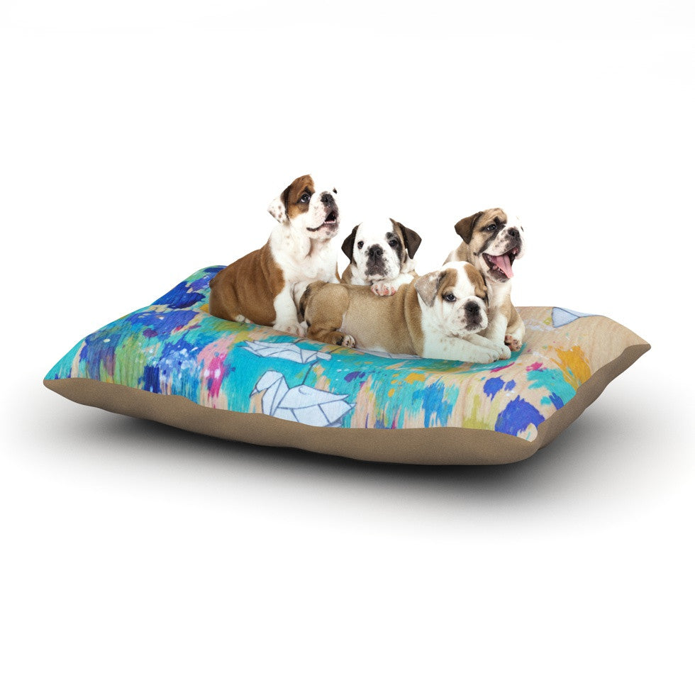 "Kira Crees ""Origami Strings"" Dog Bed - KESS InHouse  - 1"