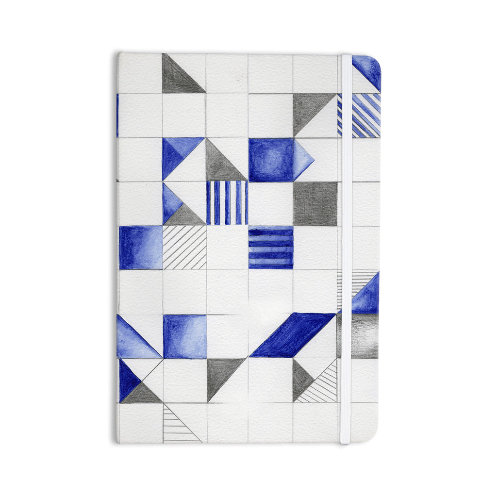"Kira Crees ""Winter Geometry"" White Blue Everything Notebook - KESS InHouse  - 1"