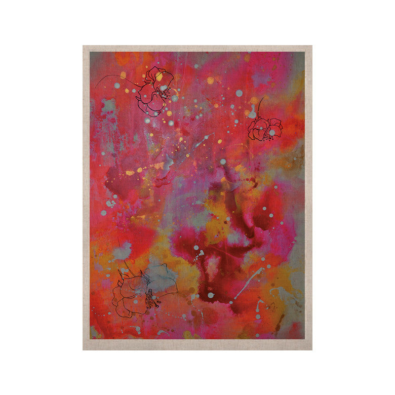 "Kira Crees ""Falling Paradise"" Pink Orange KESS Naturals Canvas (Frame not Included) - KESS InHouse  - 1"