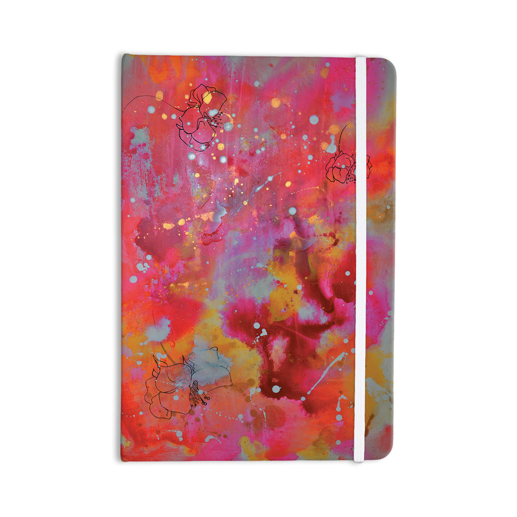 "Kira Crees ""Falling Paradise"" Pink Orange Everything Notebook - KESS InHouse  - 1"