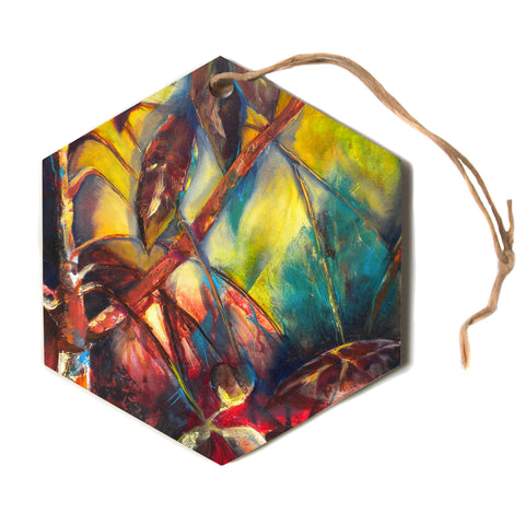 "Kristin Humphrey ""Growth""  Hexagon Holiday Ornament"