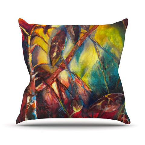 "Kristin Humphrey ""Growth"" Outdoor Throw Pillow - KESS InHouse  - 1"