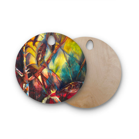 "Kristin Humphrey ""Growth"" Round Wooden Cutting Board"