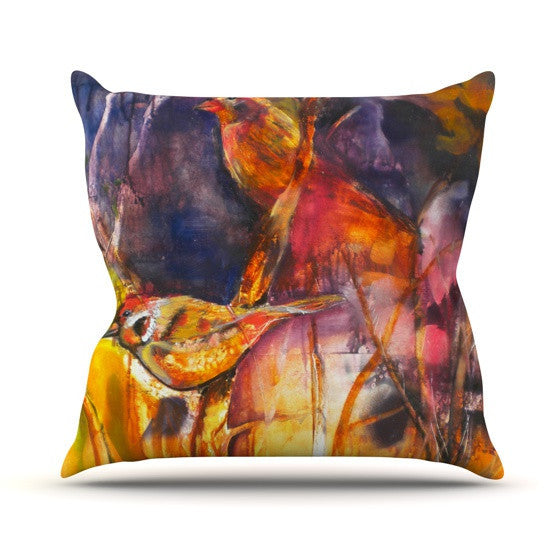 "Kristin Humphrey ""In Depth"" Outdoor Throw Pillow - KESS InHouse  - 1"
