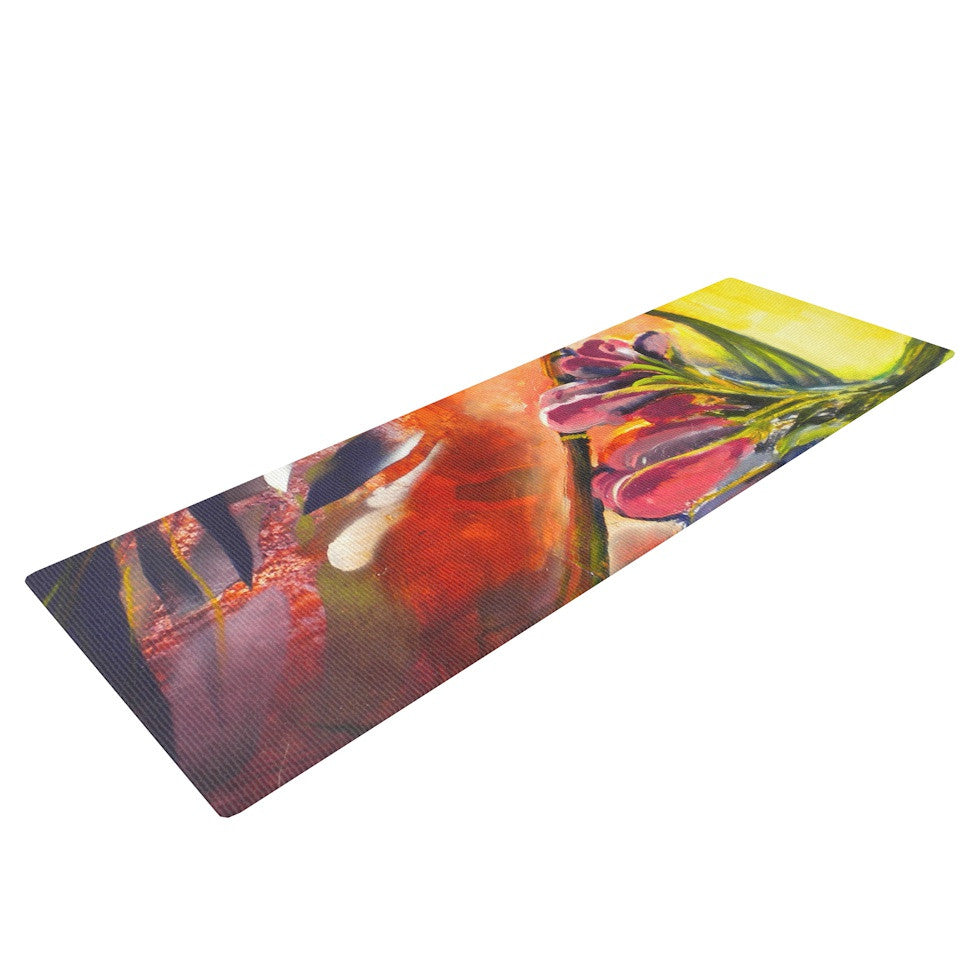 "Kristin Humphrey ""Progression"" Yoga Mat - KESS InHouse  - 1"