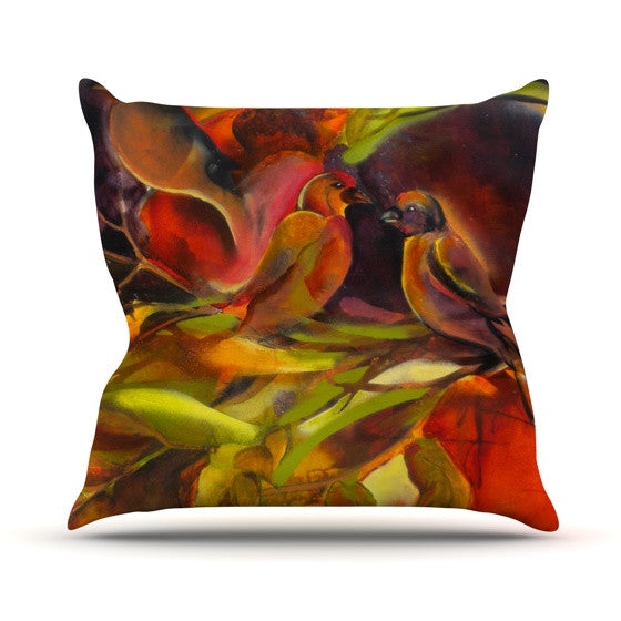 "Kristin Humphrey ""Mirrored in Nature"" Throw Pillow - KESS InHouse  - 1"