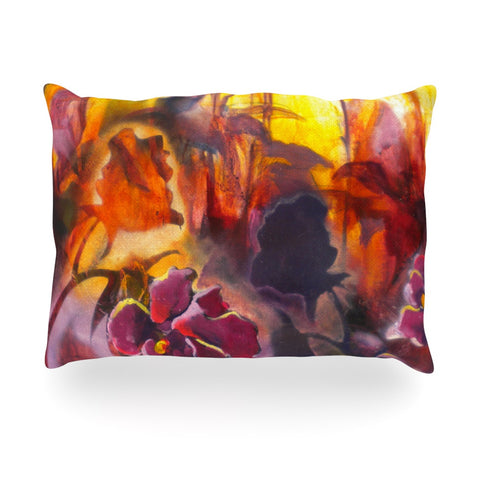 "Kristin Humphrey ""Release"" Pink Orange Oblong Pillow - KESS InHouse"