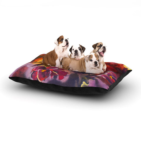 "Kristin Humphrey ""Release"" Pink Orange Dog Bed - KESS InHouse  - 1"