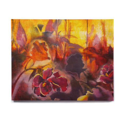 "Kristin Humphrey ""Release"" Pink Orange Birchwood Wall Art - KESS InHouse  - 1"