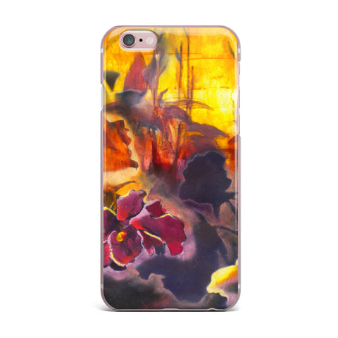"Kristin Humphrey ""Release"" Pink Orange iPhone Case - KESS InHouse"