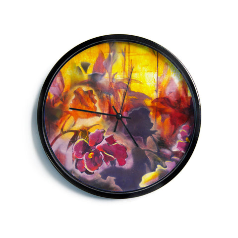 "Kristin Humphrey ""Release"" Pink Orange Modern Wall Clock"