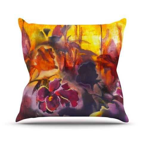 "Kristin Humphrey ""Release"" Pink Orange Throw Pillow - KESS InHouse  - 1"