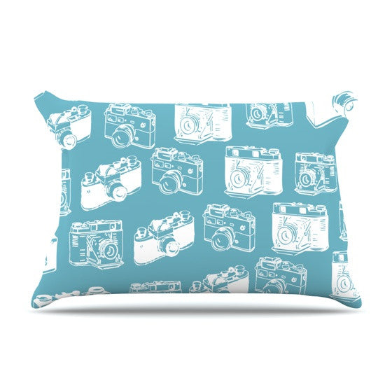 "KESS Original ""Camera Pattern"" G. Blu Pillow Sham - KESS InHouse"