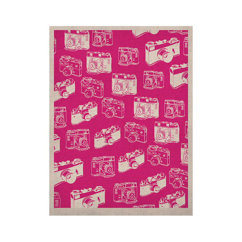 "KESS Original ""Camera Pattern"" Magenta KESS Naturals Canvas (Frame not Included) - KESS InHouse  - 1"