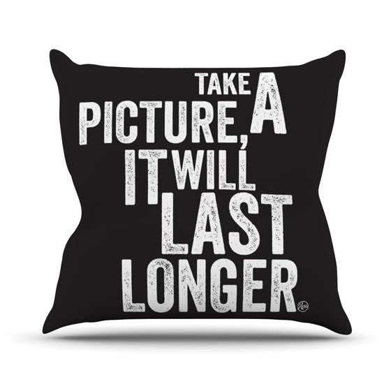 "KESS Original ""Take A Picture"" Outdoor Throw Pillow - KESS InHouse  - 1"