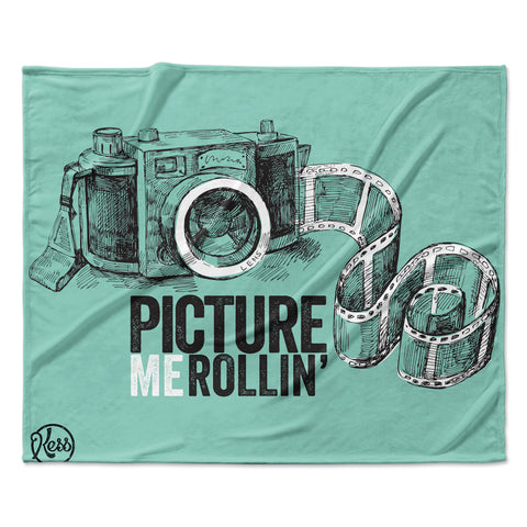 "KESS Original ""Picture Me Rollin"" Mint Fleece Throw Blanket"