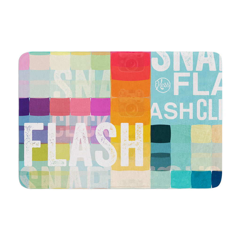 "KESS Original ""FLASH"" Memory Foam Bath Mat - KESS InHouse"