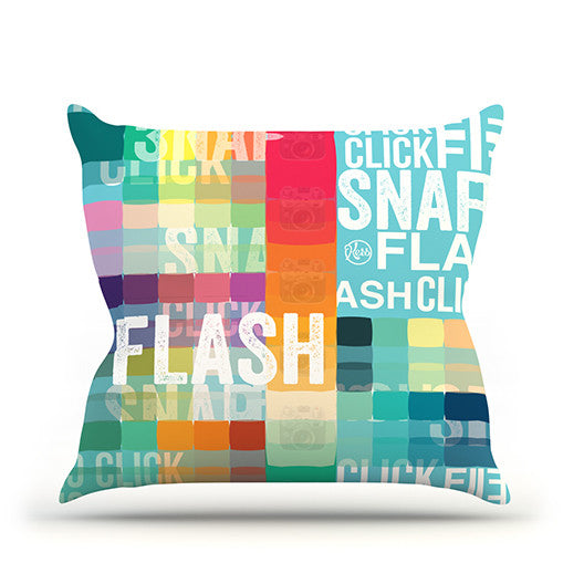 "KESS Original ""FLASH"" Throw Pillow - KESS InHouse  - 1"