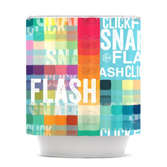 "KESS Original ""FLASH"" Shower Curtain - KESS InHouse"