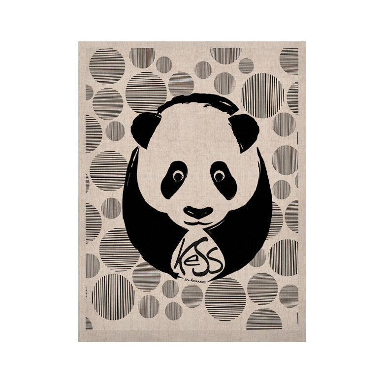 "KESS Original ""Panda"" KESS Naturals Canvas (Frame not Included) - KESS InHouse  - 1"
