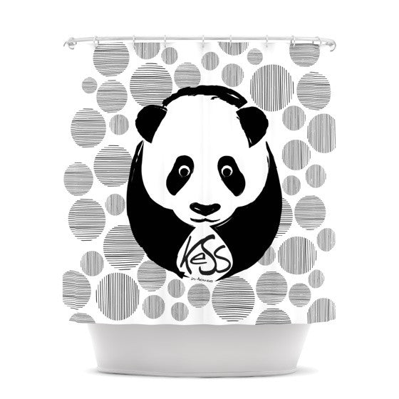 "KESS Original ""Panda"" Shower Curtain - KESS InHouse"