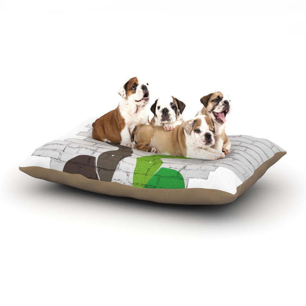 "KESS Original ""Elephants"" Dog Bed - KESS InHouse  - 1"