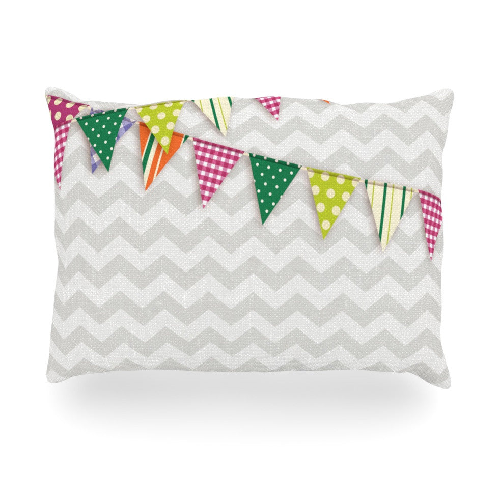 "KESS Original ""Flags 1"" Oblong Pillow - KESS InHouse"