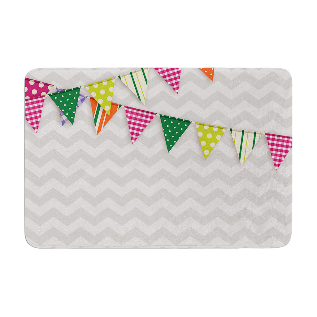 "KESS Original ""Flags 1"" Memory Foam Bath Mat - KESS InHouse"