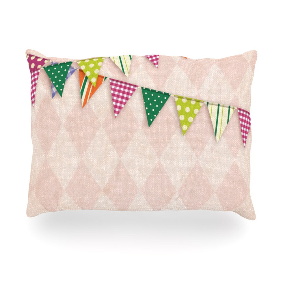 "KESS Original ""Flags 2"" Oblong Pillow - KESS InHouse"