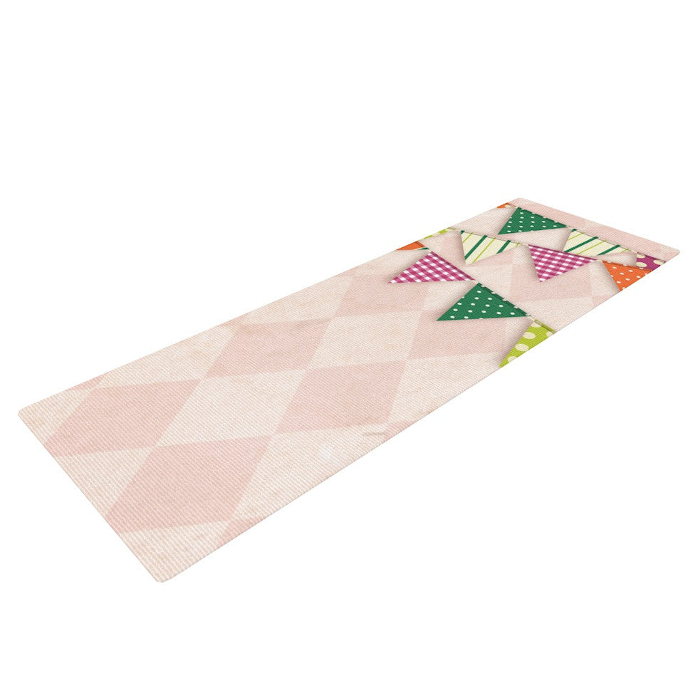 "KESS Original ""Flags 2"" Yoga Mat - KESS InHouse  - 1"