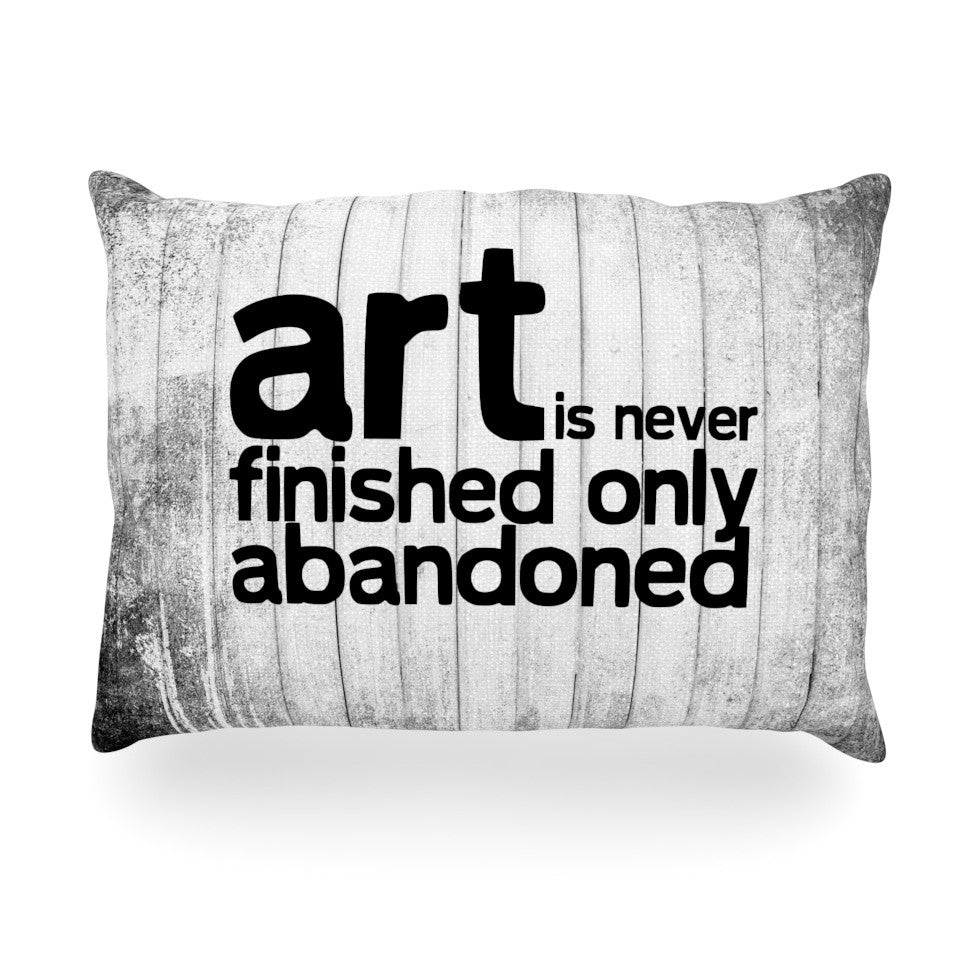 "KESS Original ""Art Never Finished"" Oblong Pillow - KESS InHouse"