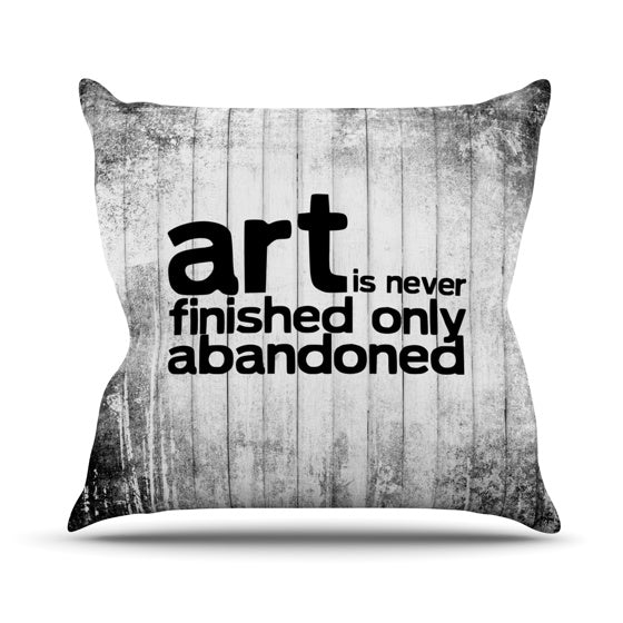 "KESS Original ""Art Never Finished"" Throw Pillow - KESS InHouse  - 1"