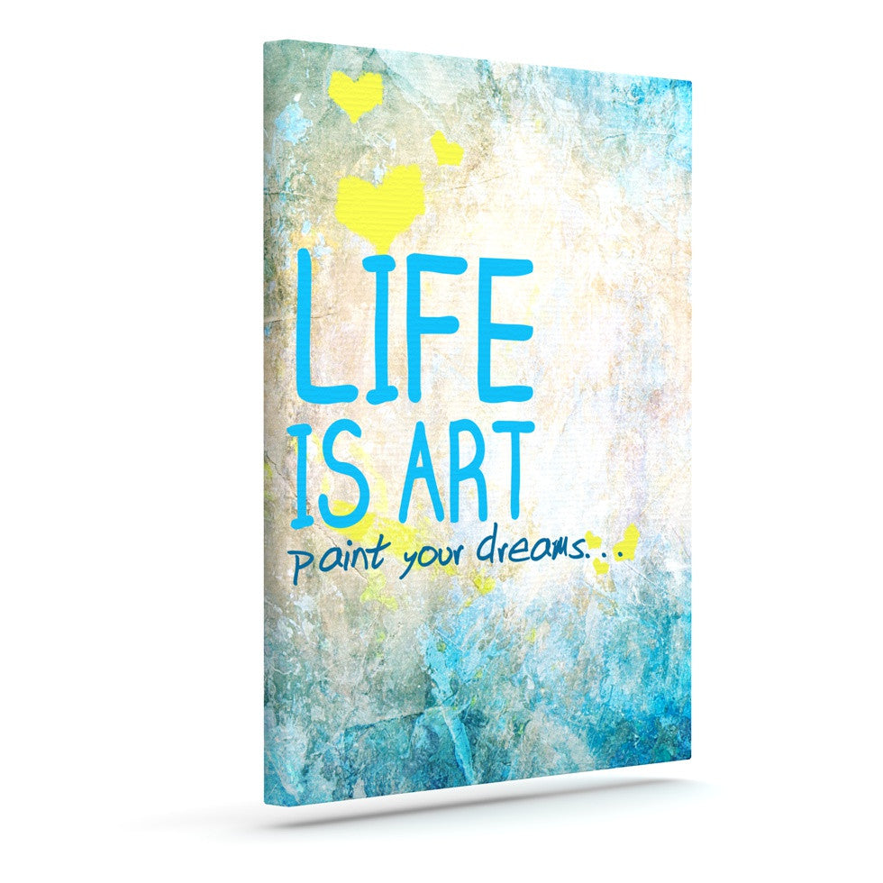 "KESS Original ""Life is Art"" Outdoor Canvas Wall Art - KESS InHouse  - 1"