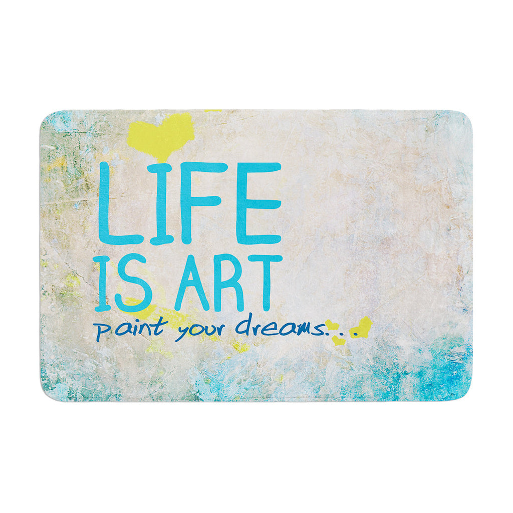 "KESS Original ""Life Is Art"" Memory Foam Bath Mat - KESS InHouse"