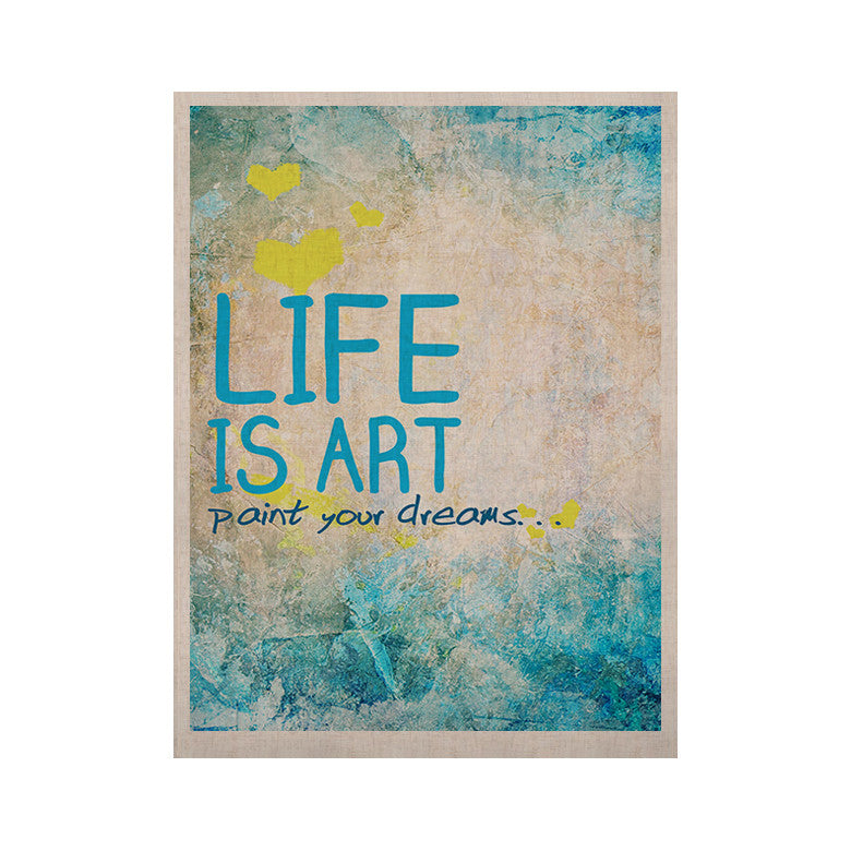 "KESS Original ""Life Is Art"" KESS Naturals Canvas (Frame not Included) - KESS InHouse  - 1"