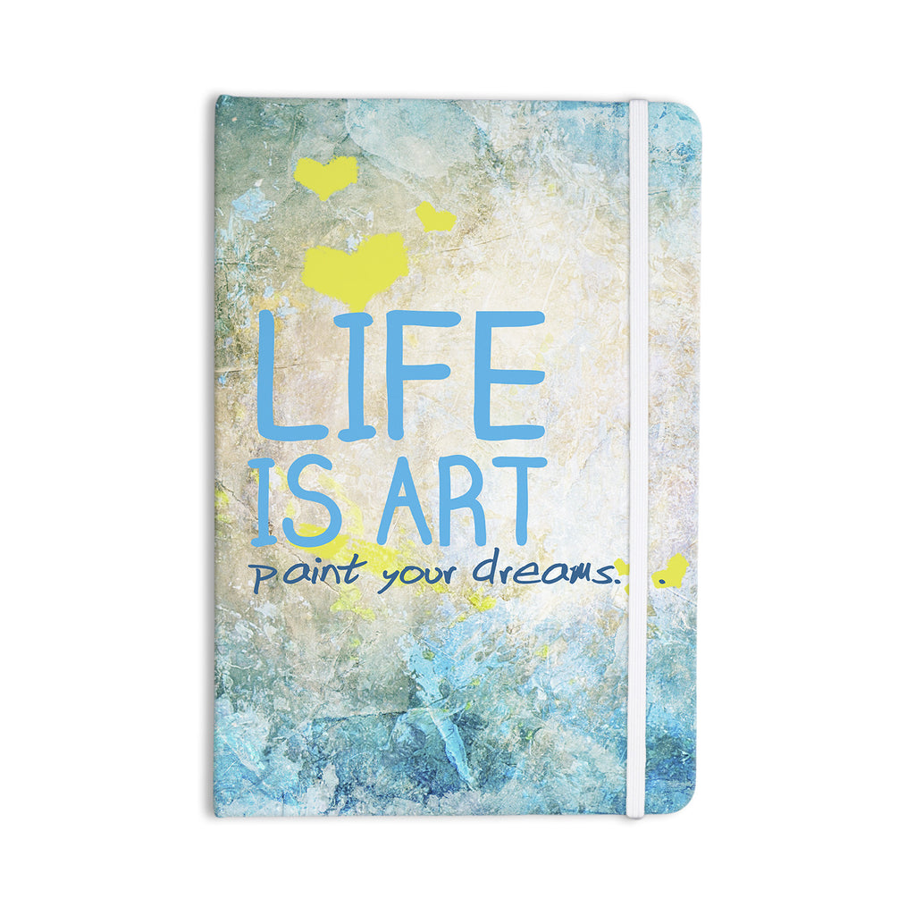 "KESS Original ""Life Is Art"" Everything Notebook - KESS InHouse  - 1"