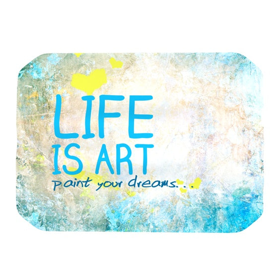 "KESS Original ""Life Is Art"" Place Mat - KESS InHouse"