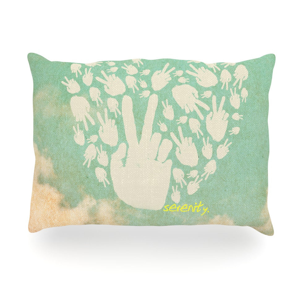 "KESS Original ""Serenity"" Oblong Pillow - KESS InHouse"