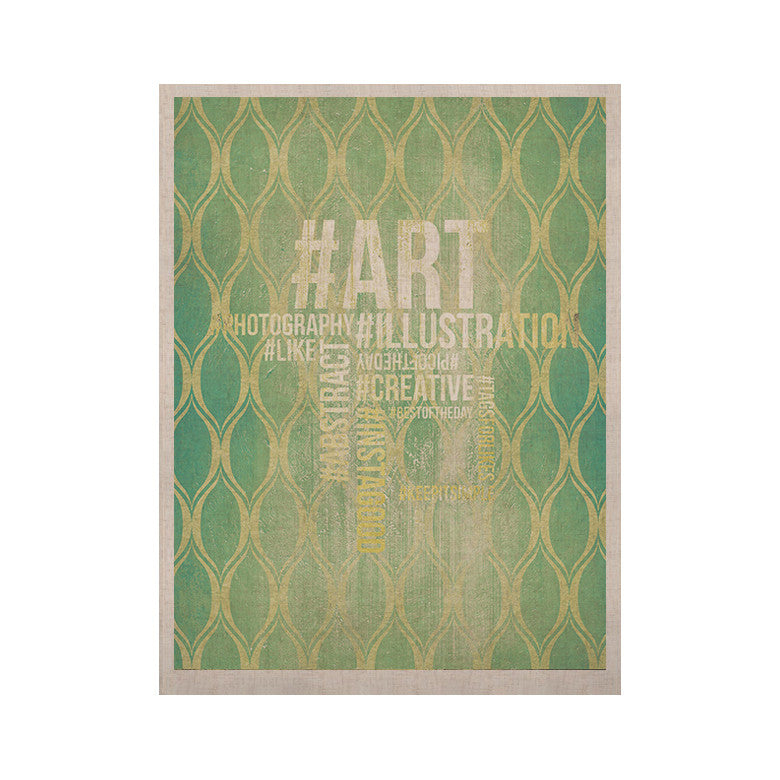 "KESS Original ""Hashtag"" KESS Naturals Canvas (Frame not Included) - KESS InHouse  - 1"