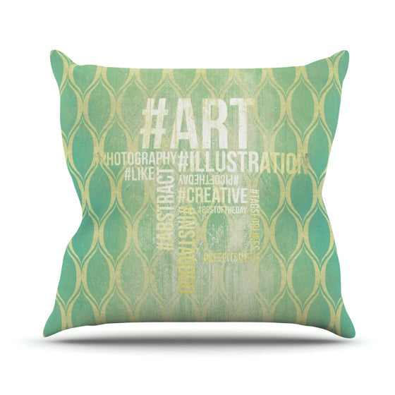 "KESS Original ""Hashtag"" Throw Pillow - KESS InHouse  - 1"