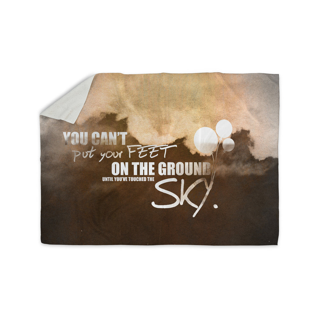 "KESS Original ""Touch the Sky"" Sherpa Blanket - KESS InHouse  - 1"