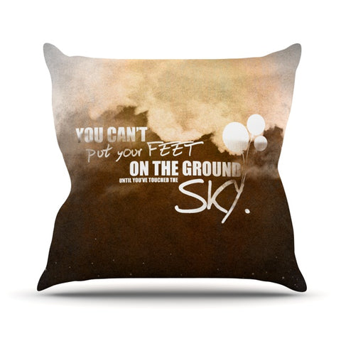 "KESS Original ""Touch the Sky"" Outdoor Throw Pillow - Outlet Item"