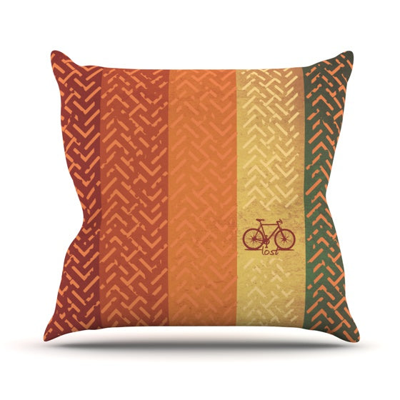 "KESS Original ""Lost"" Throw Pillow - KESS InHouse  - 1"